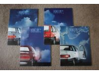 MINT 1988 USA/American Car Brochures Collection (Caddy/Vette/Buick/Lincoln/Mercury/Chrysler/Chevy..)