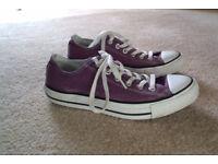 Converse All Stars, Size 7. Mauve / purple colour