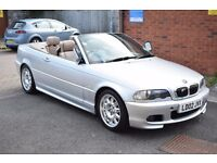 M SPORT BMW 330Ci CONVERTIBLE MANUAL,SERVICE HISTORY,LEATHER,PARKING AID*AUTO LIGHTS*4 EXHAUSTS