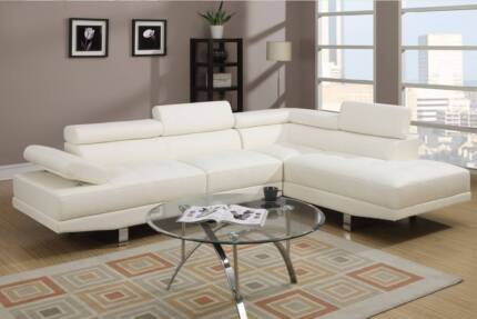 Stylish NEW Sofa Lounge with FREE Delivery - Leather and Linen Surfers Paradise Gold Coast City Preview