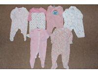 Girls Baby Grow Bundle x8 (3-9m)
