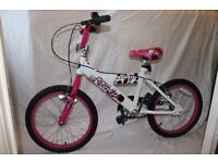 "[BRAND-NEW] Childs BIKE 18"" Girls ""BREEZE"" Beautiful PINK, WHITE and Black PAINT JOB.GENUINE BARGAIN"