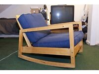 Ikea Lillberg Lounge Chair - Rocking Chair. Blue.