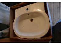 Brand new basin and pedestal