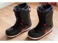 Nike Vapen Snowboard Boots 2012 (Black/Red) - Size UK 11, US 12, EUR 46
