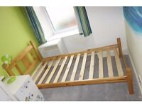 Pine single bed base (202cm x 98cm) free for collection BS3 before 28/02/17. As new.