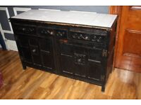 Antique Hotel Solid Wooden Kitchen Dining Area Condiments Storage Units