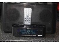 SONY DAB RADIO/IPOD DOCK/AUXIN PLAY IPOD PHONE/REMOTE/DAB ANTENNA