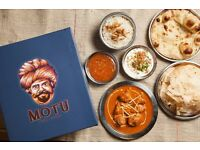 Commis Chef - Motu Indian Kitchen. Exciting opportunity, up to £26k
