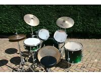 Mapex Meridian Birch 22inch Drum Kit, Black Forest Green Fade With Free Cymbals