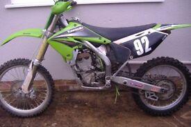 KXF 250 Kawasaki Motorcross bike 2004