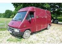 Renault Master Horsebox. Up to 3.5 tonne. Drive on a car licence, no plating needed.