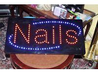 Electric Led light Nail Salon Sign