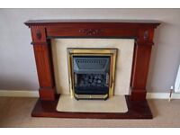 Gas Fire and Wooden Surround
