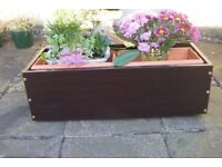 Conservatory or Patio Planter boxes, On wheels,
