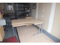 Quality Executive Corner Desk - Light Oak