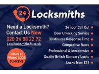 24 Hour Locksmiths! We cover all of Greater London! Won't be beaten on any quote! Contact us NOW!