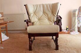 2 Seater Cream Sofa & 2 Chairs