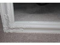 Tall white frame mirror