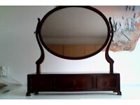 Mahogamy Dressing table drawers and mirror