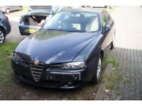alfa romeo 156 t spark veloce 1.6 petrol -spares or repairs-starts and drive's.