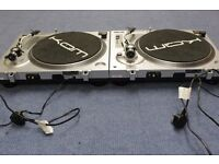 KAM DDX750 Directdrive turntables x 2 plus assorted light boxes as seen in pictures