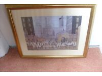 "L.S.LOWRY 1930 PICTURE PRINT 20"" WIDE X 17"" HIGH GOLD FRAME"