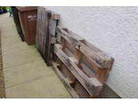 2 wooden pallets
