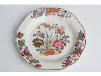 Vintage Old Wedgwood Etruria Plate Handpainted Over Transfer Decorative Plate Wedgewood