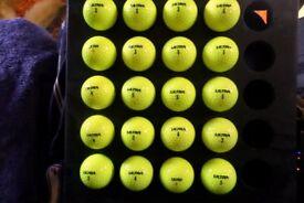 20 wilson staff hi-viz yellow golf balls