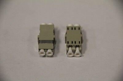 2 x Fiber Optic Cable Adapter LC-LC MM DUP Multimode Duplex Coupler Grey