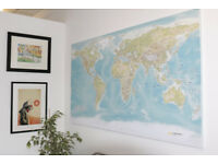 Giant Canvas World Map ++ NEW ++ (Not Ikea)
