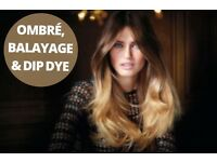 Glasgow hairdresser, Glasgow balayage, dip dyed, ombre. Glasgow highlight/colour all £25. In salon