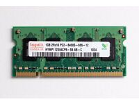 1 GB DDR2 PC2-6400 RAM 800 MHz Laptop Memory