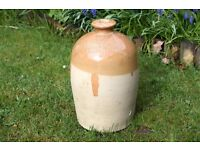 Antique Stoneware Flagon From The Dewar & Company Leith Scotland,breweriana,vintage stoneware,large