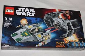 LEGO STAR WARS REBELS SET - VADER'S TIE ADVANCED vs A-WING STARFIGHTER inc 4 minifigures (75150) NEW