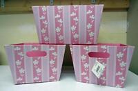 Large Home Accents Storage Bins (Pink Stripes)