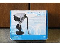 Nikkai day & night outdoor camera with audio. Brand new. Security CCTV