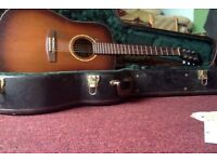 simon patrick hand made canadian red wood guitar with hard case