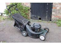 Large Hayter Double 3 Petrol Lawn Mower - 56cm wide & self-propelled