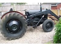 1957 FE 35 MASSEY FERGUSON TRACTOR LOUDER BUCKET HI AND LOW FULL HYDROLICSS EVERY THING WORKS