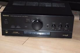 TECHNICS AMP 300W DUAL AUX IN PLAY IPOD PHONE CAN BE SEEN WORKING