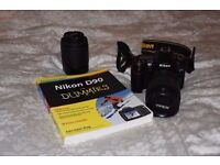 Nikon D90 with 18-105VR and 55-200VR lens - excellant condition