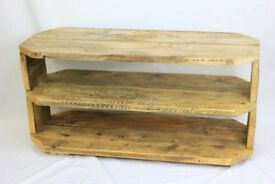 Reclaimed solid wood TV stand – TV unit - TV cabinet