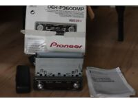 PIONEER CAR CD RADIO PLAYER BOX/MANUEL/WIRES/CAGE/SUB CONNECTION
