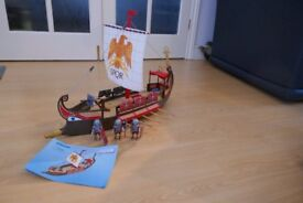 RARE PLAYMOBIL ROMAN SETS - ROMAN WARRIORS SHIP (7512), 4 HORSE CHARIOT (7498) AND WARRIORS (4271)