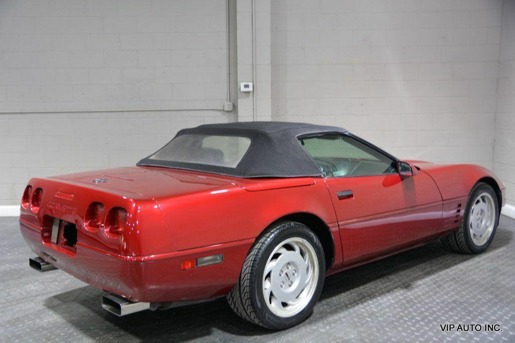 1992 Burgundy Chevrolet Corvette Convertible  | C4 Corvette Photo 4