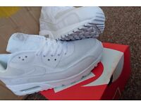 NEW NIKE AIR MAX 90 MEN SIZE 6,7,7.5,8,8.5,9 WHITE BLACK HYPERFUSE INDEPENDENCE DAY AIR FORCE JORDAN