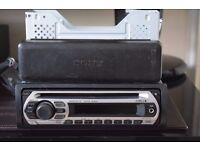 sony car cd radio aux in play ipod phone music/wires/cage
