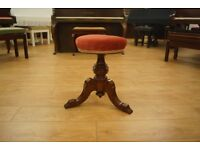 Antique Victorian piano stool - Can be shipped